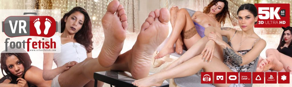 VRFF top image showing collection of girls with sexy legs and feet